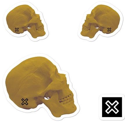 Gold Skull sticker set