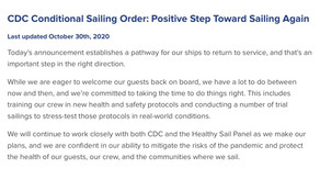 """The """"New"""" CDC Conditions for Sailing"""
