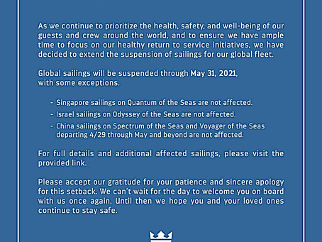 !!!Royal Caribbean Update!!!