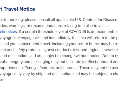 Important Notice from Royal Caribbean