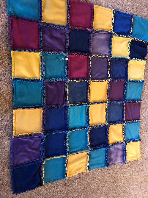 Fleece Fringed Fun Blanket