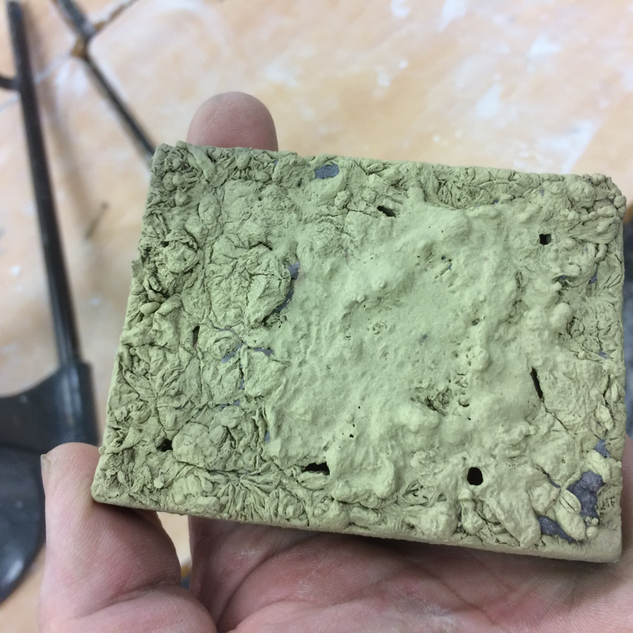 Copper base made from the mould