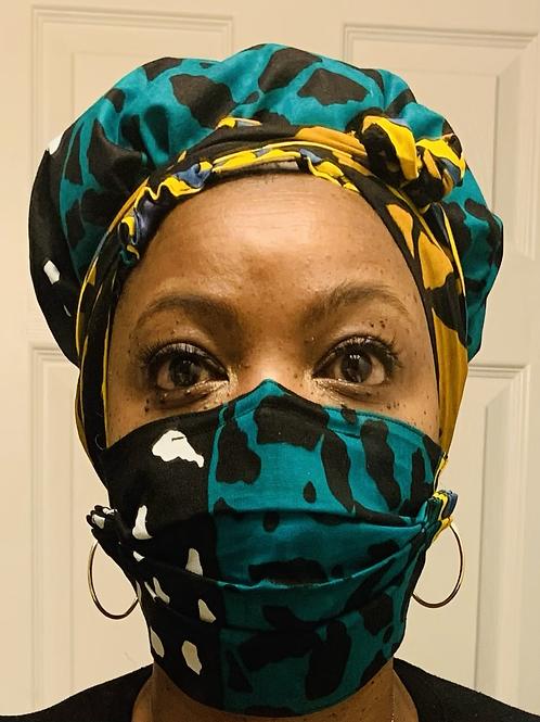 Bonnet and Face mask set