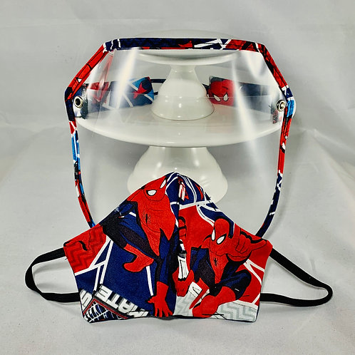 Face Mask and Face Shield Childs