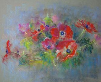 peindre les fleurs au pastel