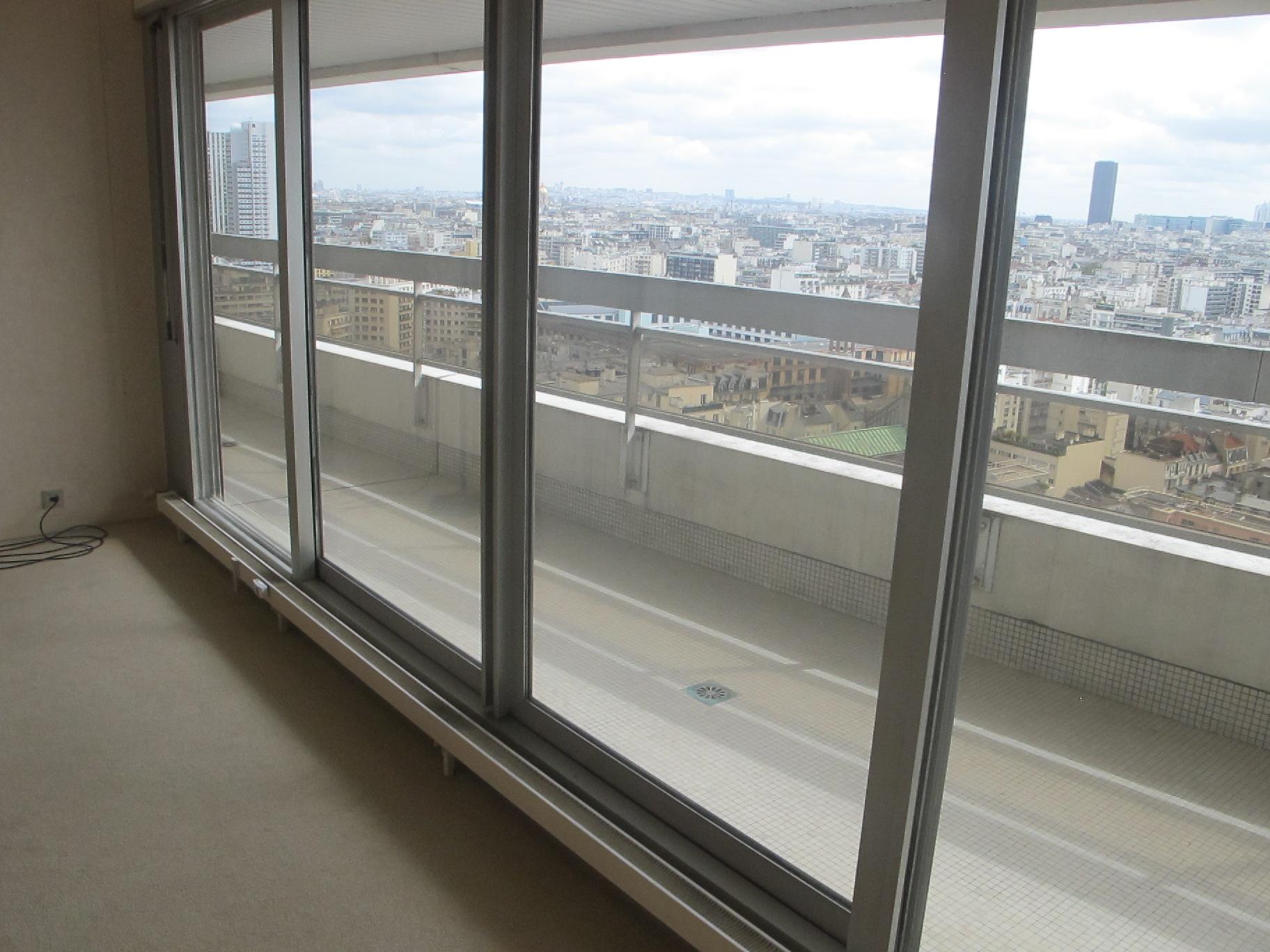 Balcon appartement vue panoramique