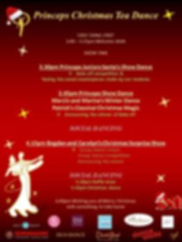 Princeps Christmas Tea Dance Programme