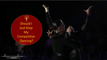 Should I just stop my competitive dancing?