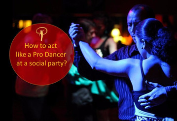 How to act like a professional dancer at a social party?