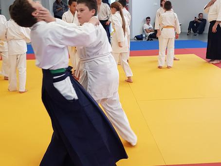 Rencontre aikido enfants à Castelsarrasin, le 12 octobre 2019...