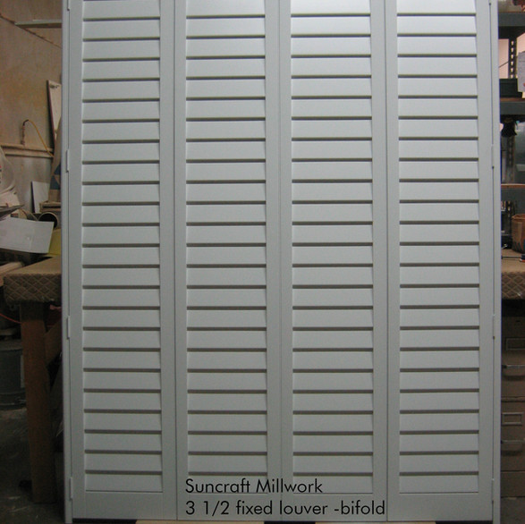 Fixed louver closet doors