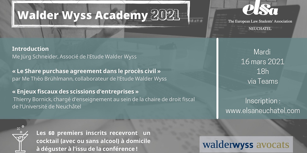 Walder Wyss Academy 2021