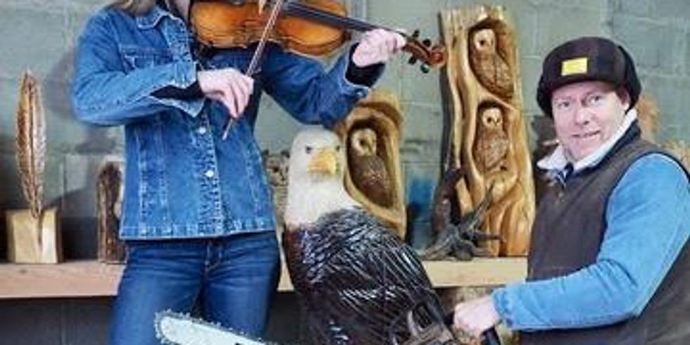 10:00am - Fernie Log Carver Demonstrations and Fiddler