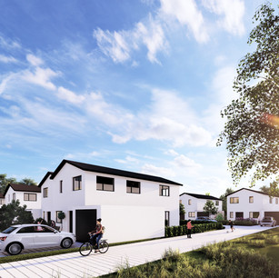 Siedlung in Holzfertigbauweise