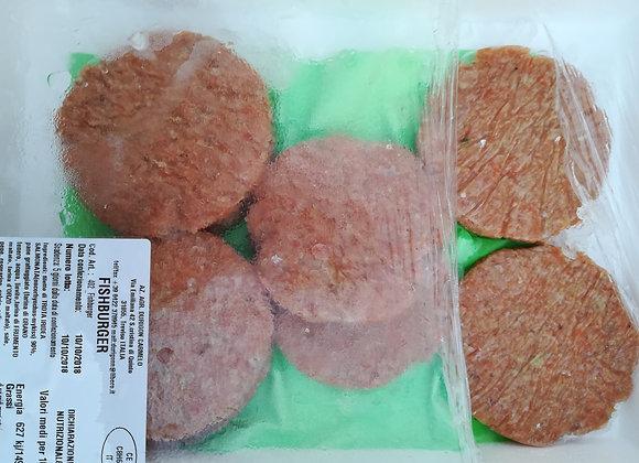 FISHBURGER FRESCHI DI TROTA-MERLUZZO  110 gr  €15.50/KG   €1.70 circa al pezzo