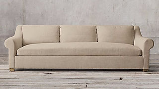 Belgian Linen sofa used in Farmhouse project