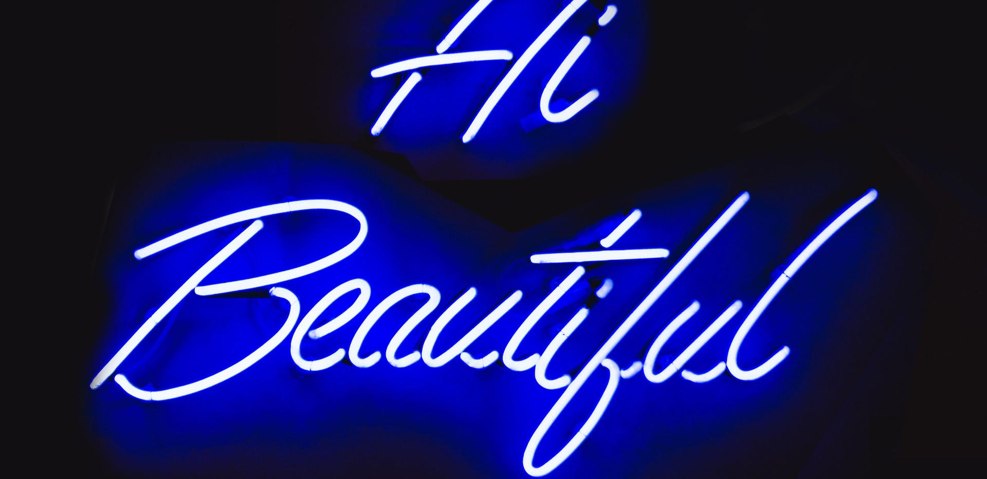 Blue LED Neon Lights