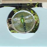 Fused glass plaque