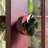 Fused glass door kno