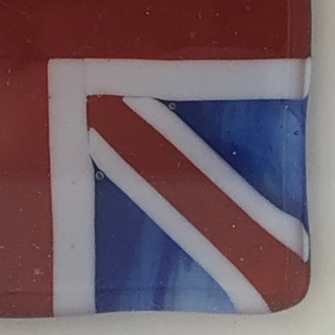 Framed fused flag