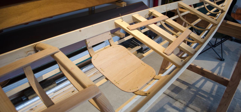 skin on frame kayak seat