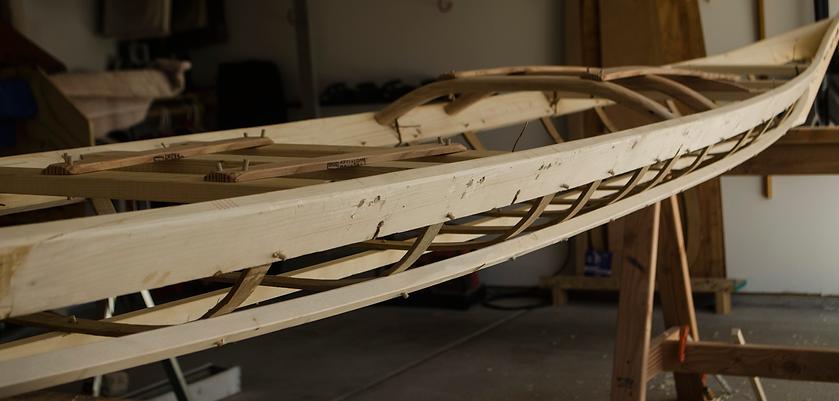 skin on frame rolling kayak