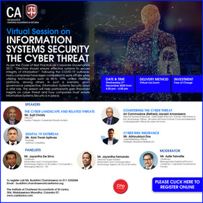 Virtual Session on INFORMATION SYSTEMS SECURITY THE CYBER THREAT