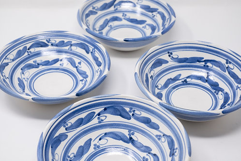 Handmade Bowl, Blue Wave Pattern (MH10,11,12)
