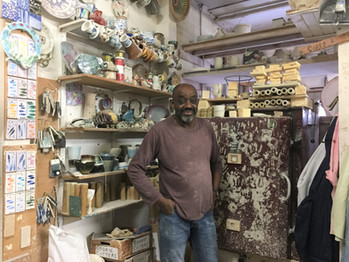 Mohamed with old kiln