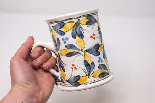 Large Mug, with Hand Painted Fiesta pattern (MH154)