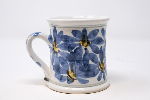 Ceramic Mug, with Hand Painted Blue Daisy Pattern (MH174,175)