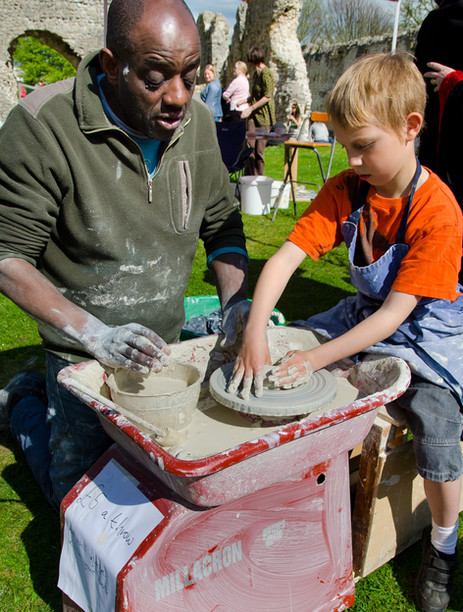 learning to pot priory fayre 2012.JPG