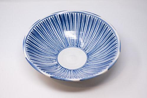 Handmade Ceramic Bowl, Sky Stripe Pattern (MH126)
