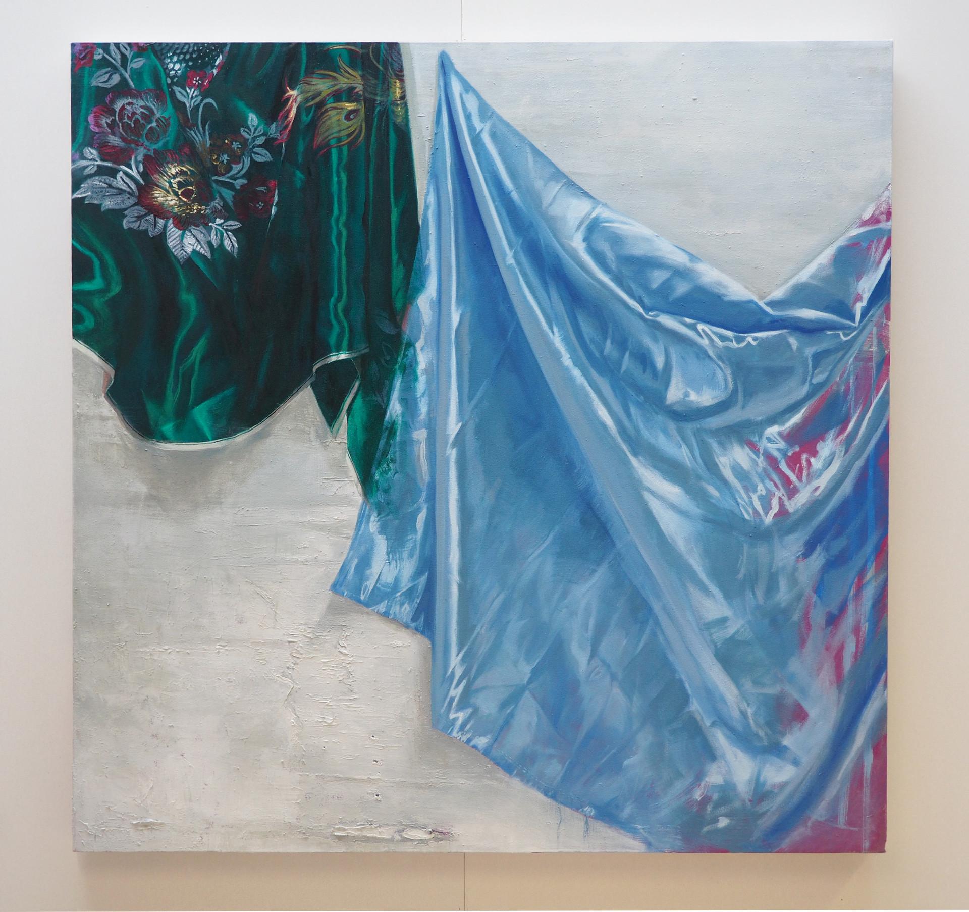 Festoons, Oil on canvas, 127 x 127 cm, 2020