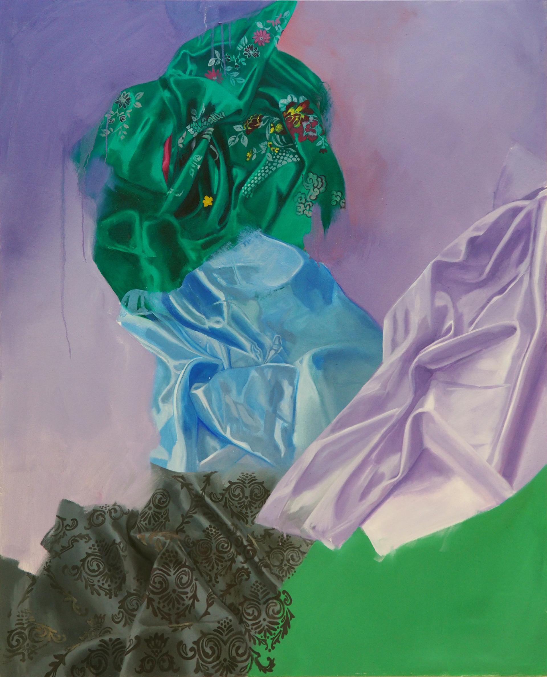 Folds & Patterns, Oil on canvas, 130 x 160 cm, 2019