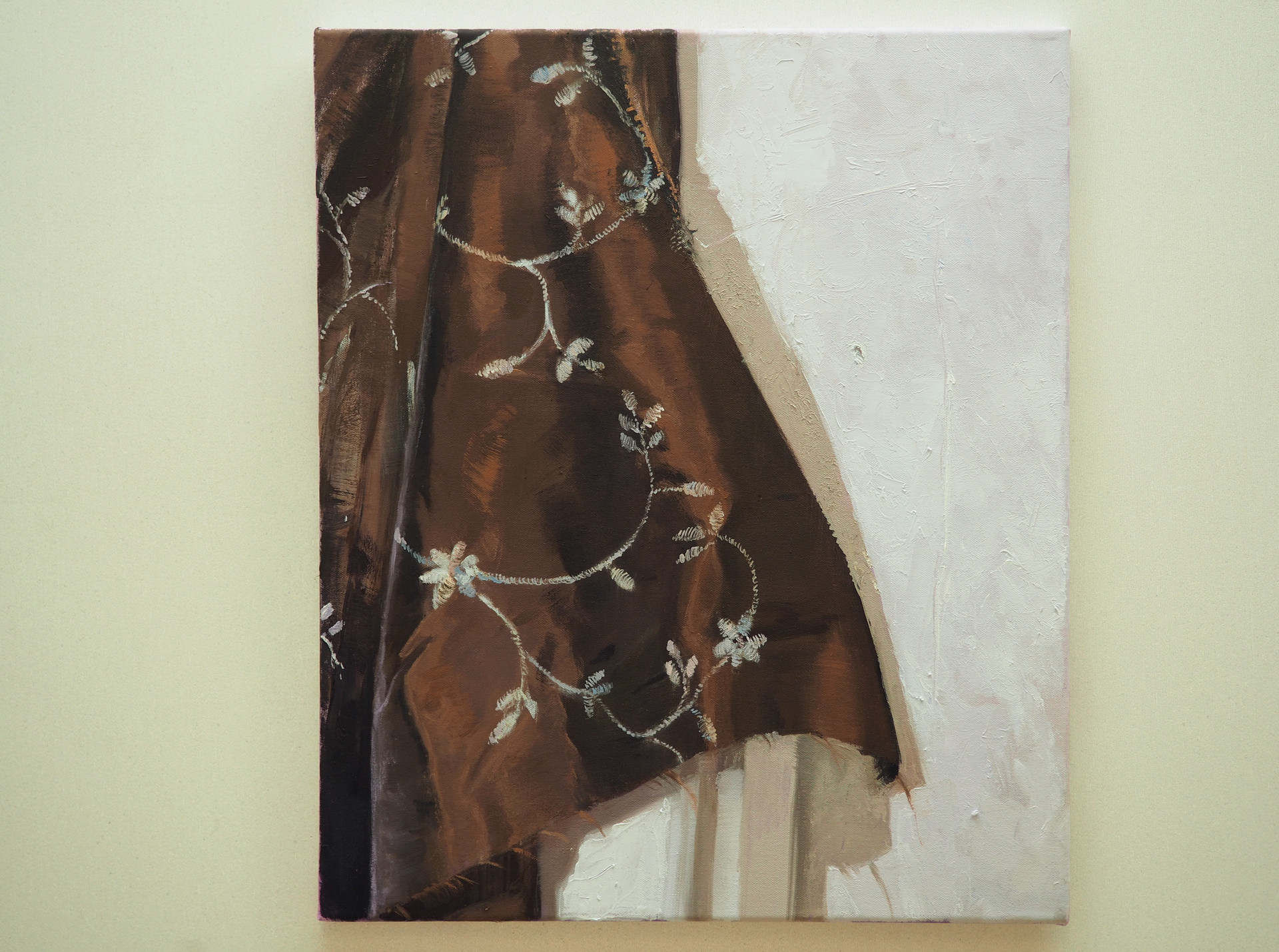 liestymä / frayed, Oil on MDF, 46 x 54 cm, 2020