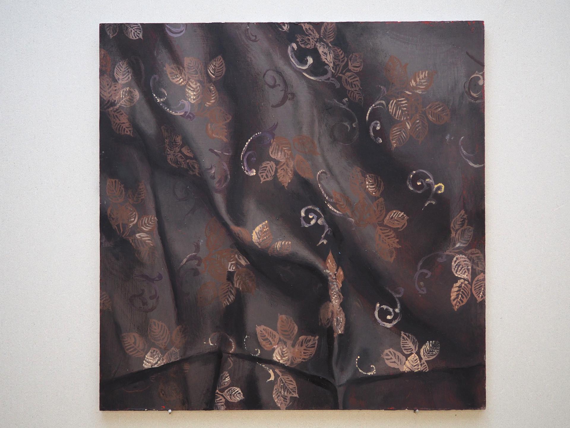 Drapery study, Fig. 3.,Oil on MDF, 40 x 40 cm, 2019