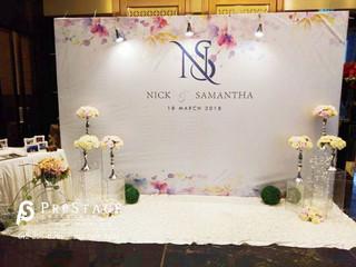 Banner Backdrop Flower Theme+Photo Table Decoration