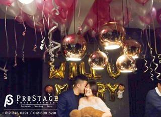 Wedding Proposal Balloon Theme Sweet White&Pink Color Decoration