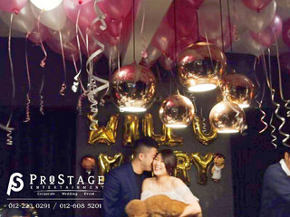Wedding Proposal Balloon Theme Sweet White&Pink Color Decoration