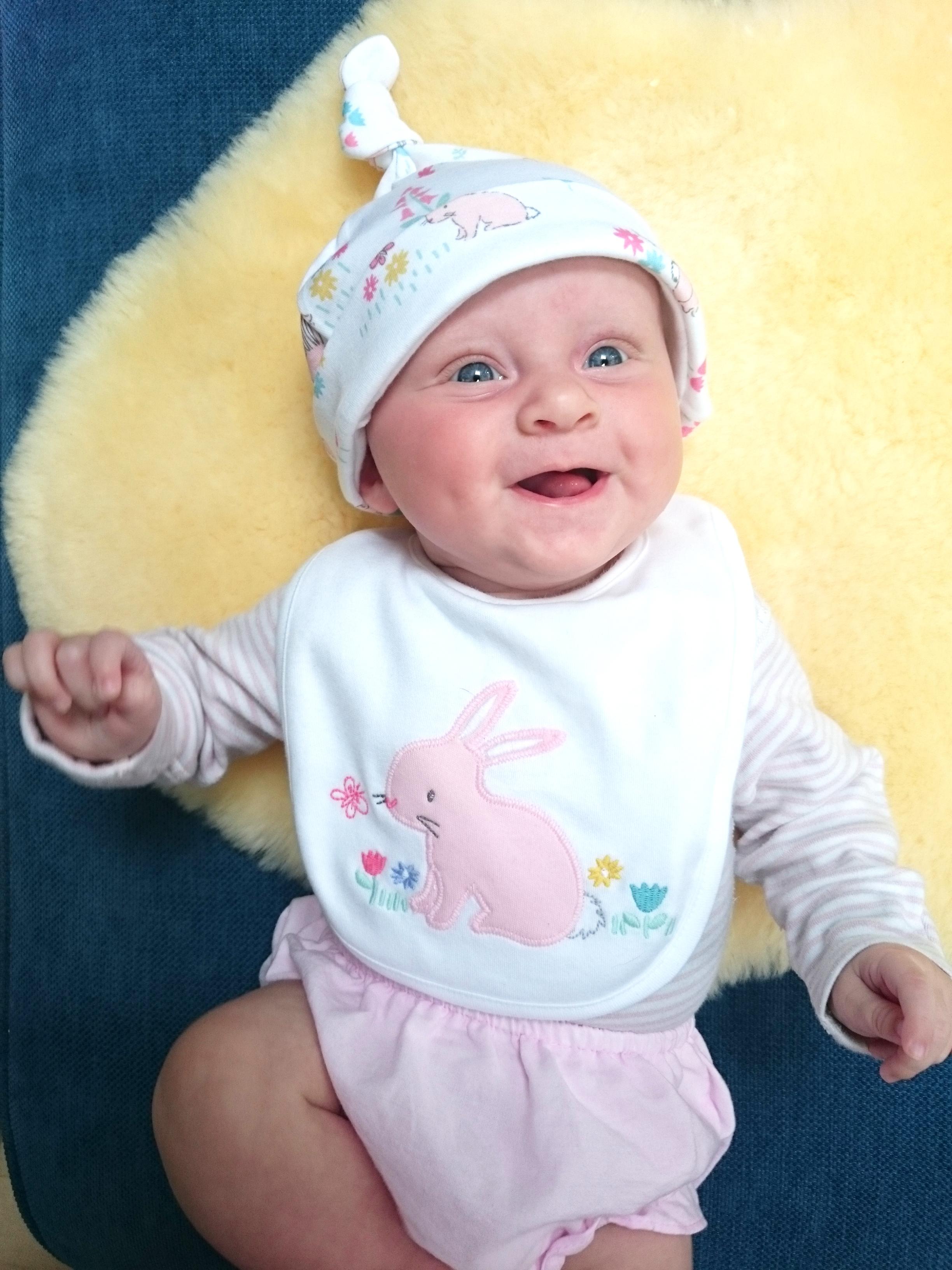 Evie smiling