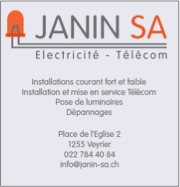 Janin SA, Electricien, Veyrier