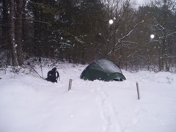 Trailrunner in the snow