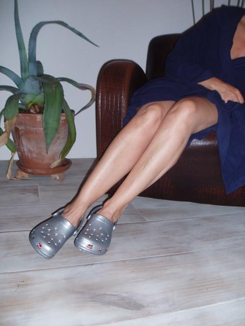 Zilveren Crocs
