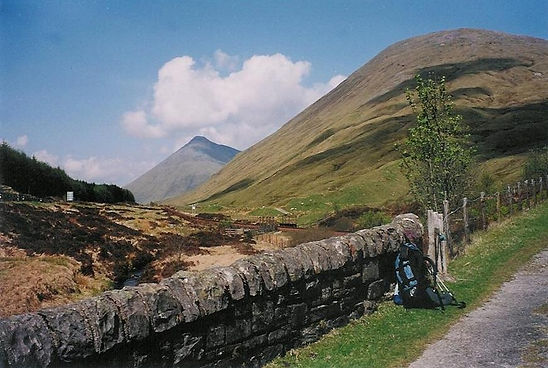 Tussen Tyndrum en Bridge of Orchy