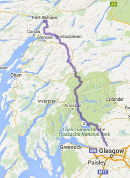 Kaartje West Highland Way