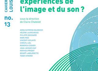 Parution Cahier Louis Lumière n°13 - ESPACE(S) 360°/VR par Christl LIDL