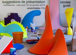 """Conférence Nicolas GUIET (artiste) """"Suggestions de présentation"""""""