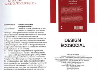 Premier article sur le livre Design Écosocial! Intramuros n°195