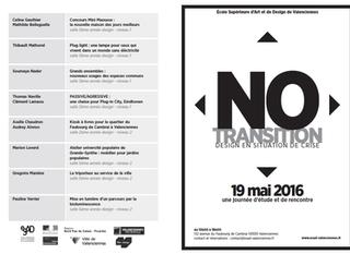 No transition : le design en situation de crise > Programme
